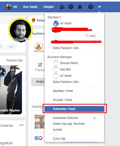 Facebooktan Instagram Reklamı Oluşturma